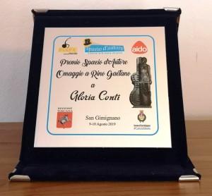 Targa Premio Spazio d'autore Gloria Conti